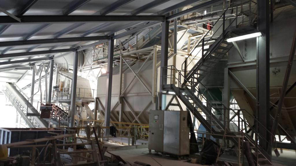 Impianto di frantumazione per granulati di marmo