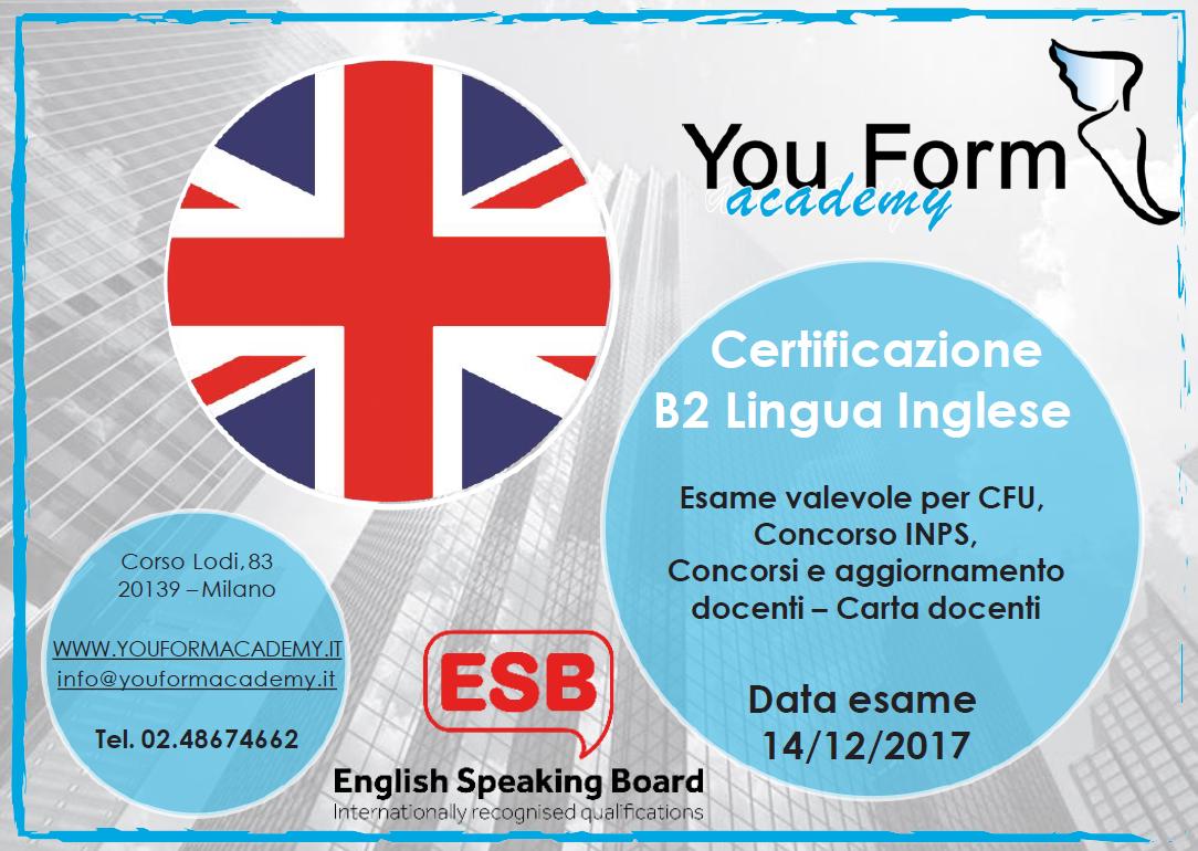 Esame Inglese B2 - Concorso INPS