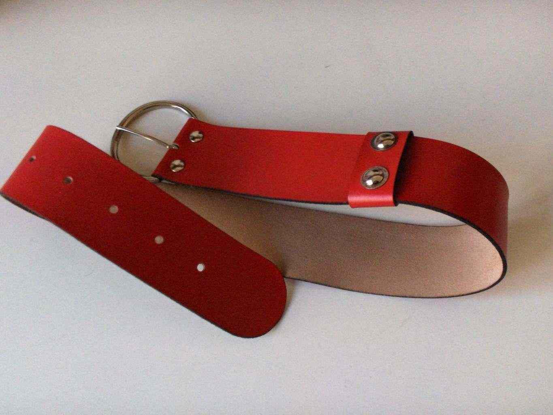 Cintura Rossa alta in vera pelle seminuova, ottimo stato