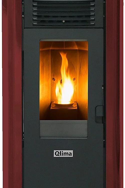 QLIMA Stufa a Pellet Fiorina 74 S-Line Potenza Termica 7.45 kW 200 m3 Riscaldabi