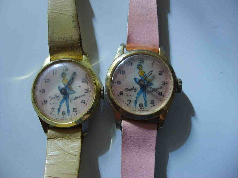 Ballerina orologio bradley vintage suisse disney mechanical uhr