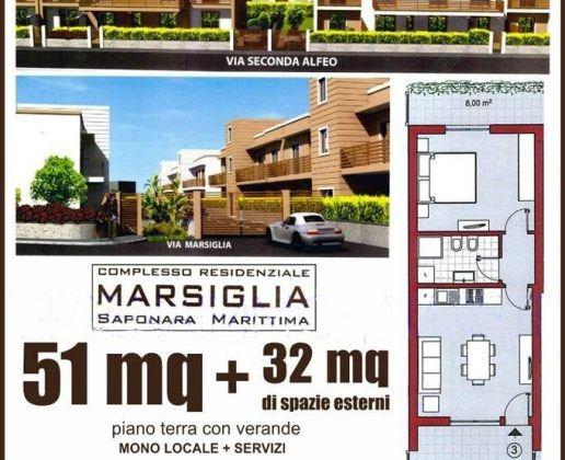 Appartamenti nuova costruzione a Saponara Marittima