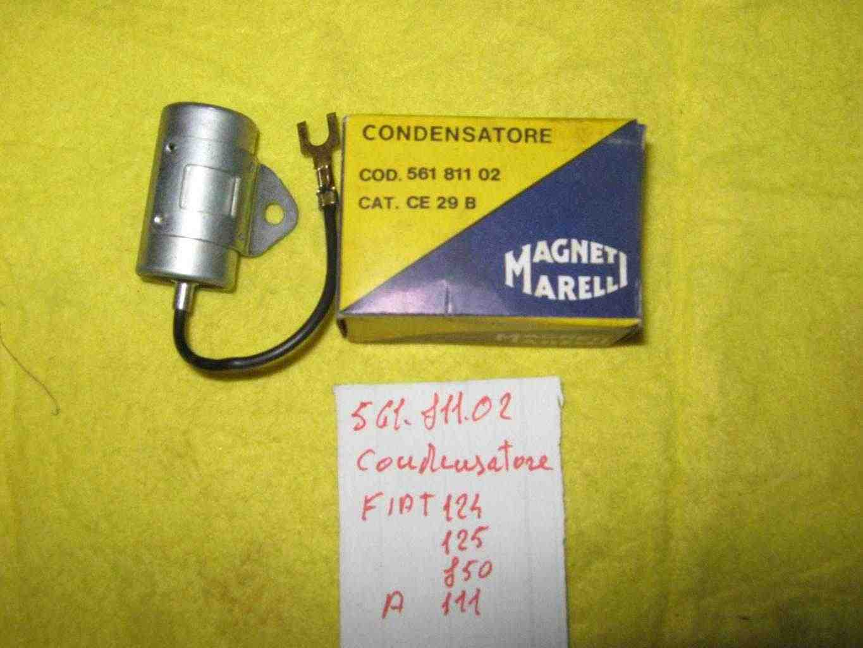 Condensatore spinterogeno Fiat 124-125 d'epoca