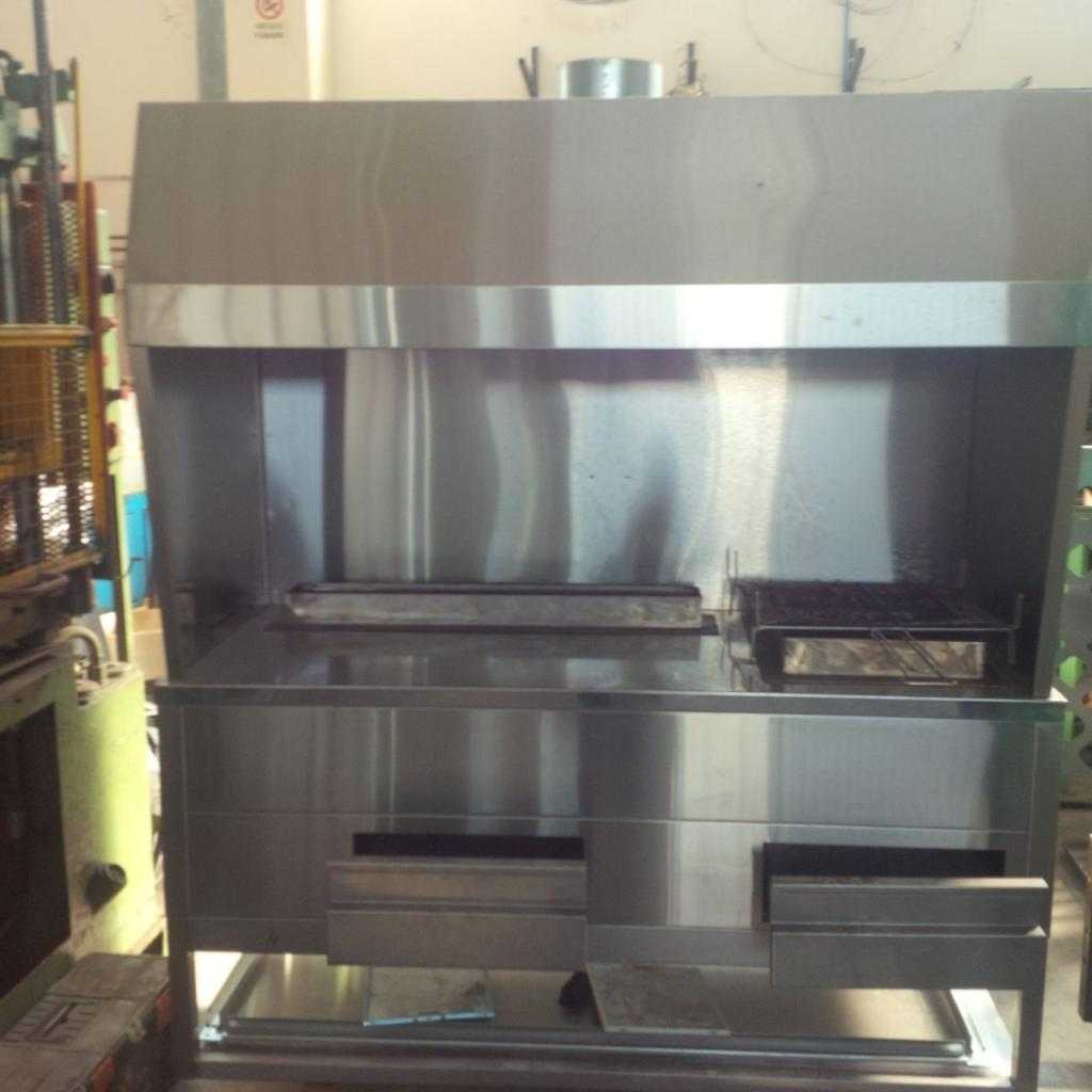 Braciere professionale 2 griglie (carbone / carbonella)