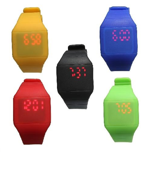 Silicone digital led orologio da polso sport kid wrist watc