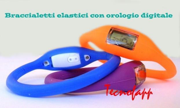 Braccialetto in sillicone anione multicolori con orologio