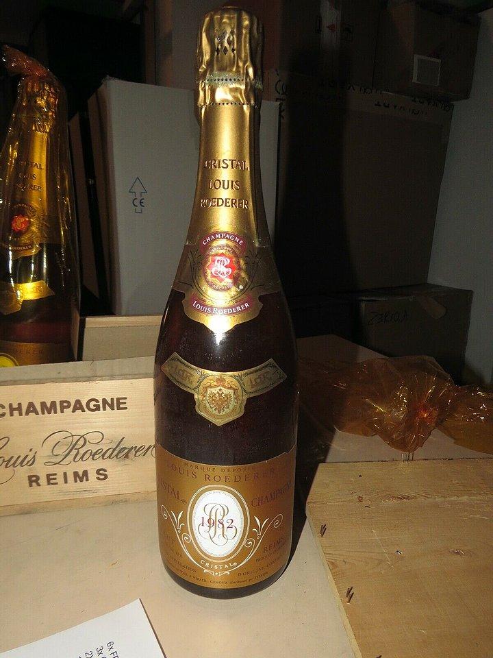 2 bottiglie di Louis Roederer Cristal Champagne Brut 1982