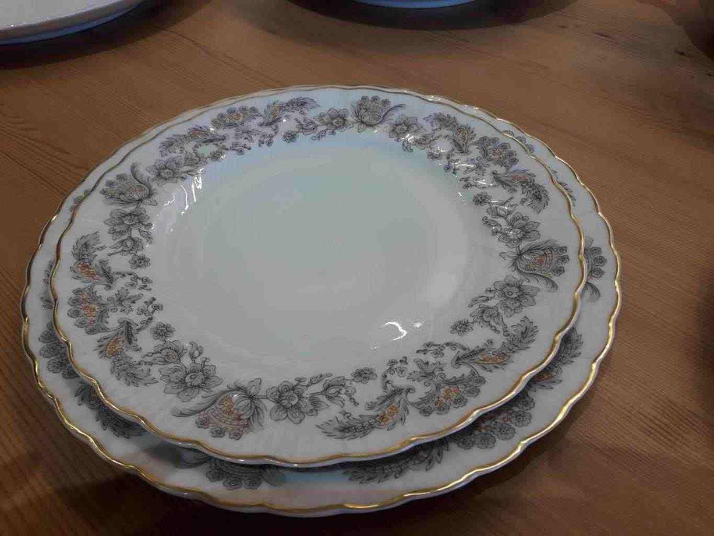 Servizio piatti in ceramica di Limoges modello Alencon