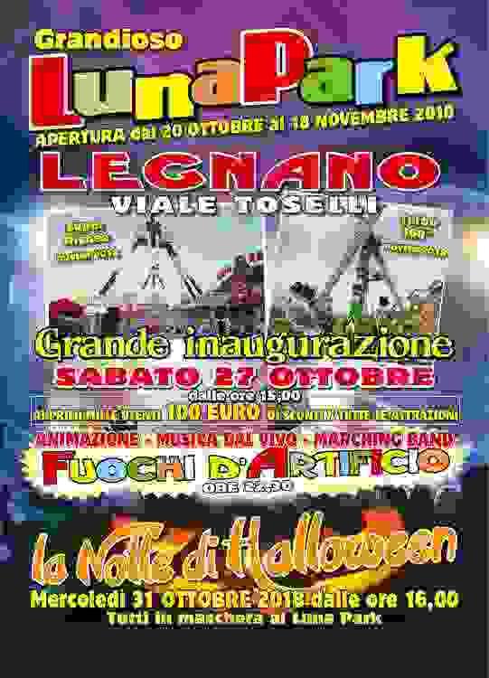 Promozioni e Sconti Luna Park di Legnano (MI) Edizione 2018