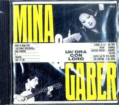 CD MINA E GABER UN ORA CON LORO NUOVO ORIGINALE