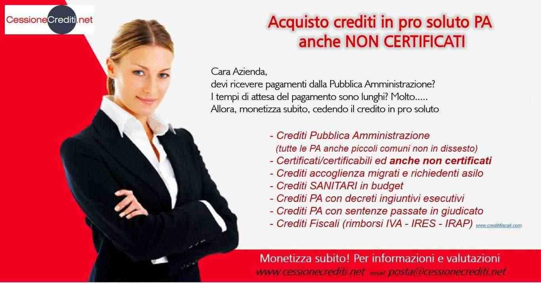 Acquisto pro soluto dei crediti PA