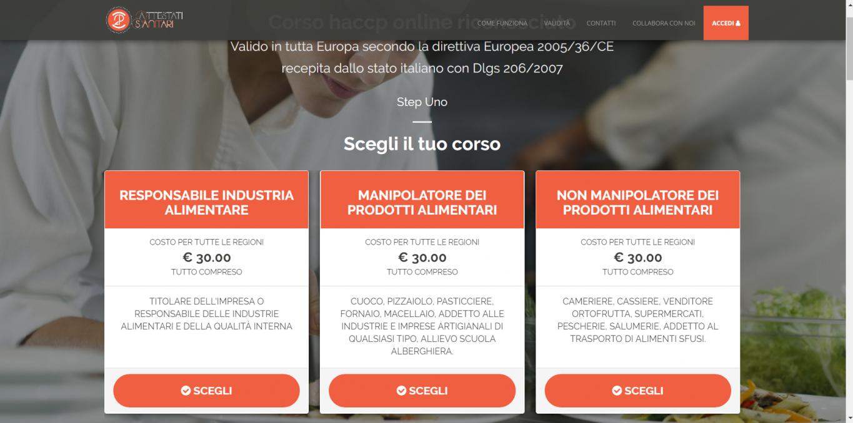 Corso haccp online sicuro e valido in tutta Italia
