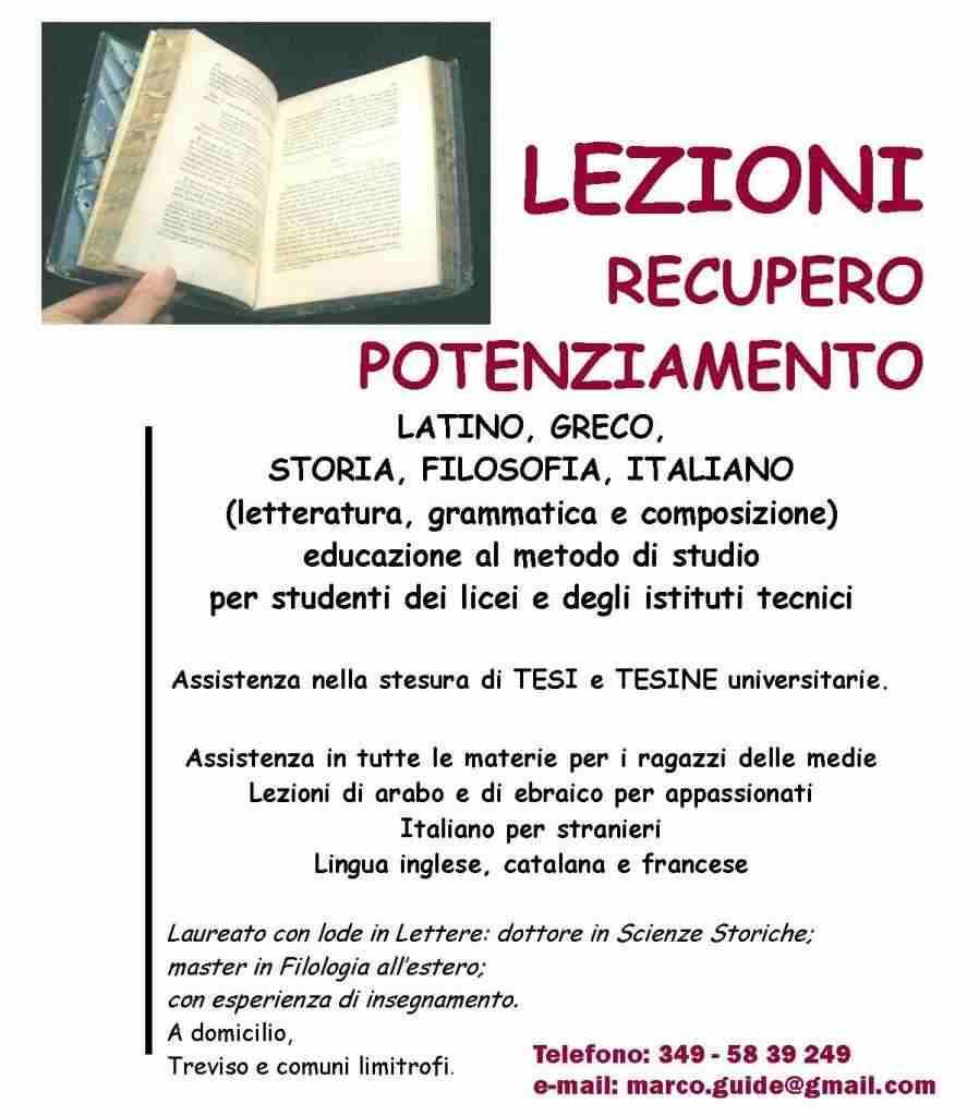 RIPETIZIONI: latino-greco, italiano, storia-filosofia
