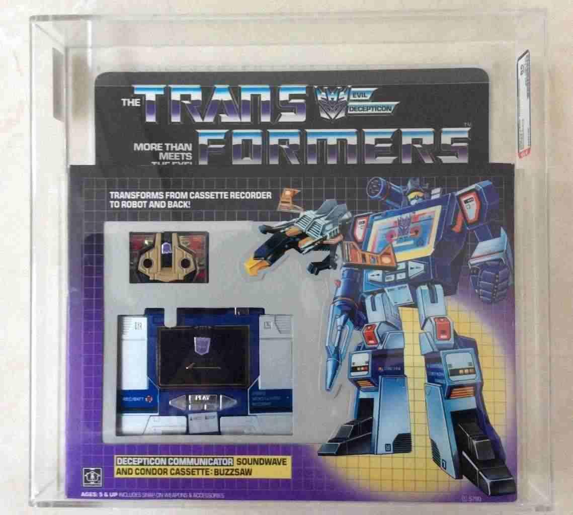 Transformers 1984, serie 1 - Decepticon Soundwave, AFA 85