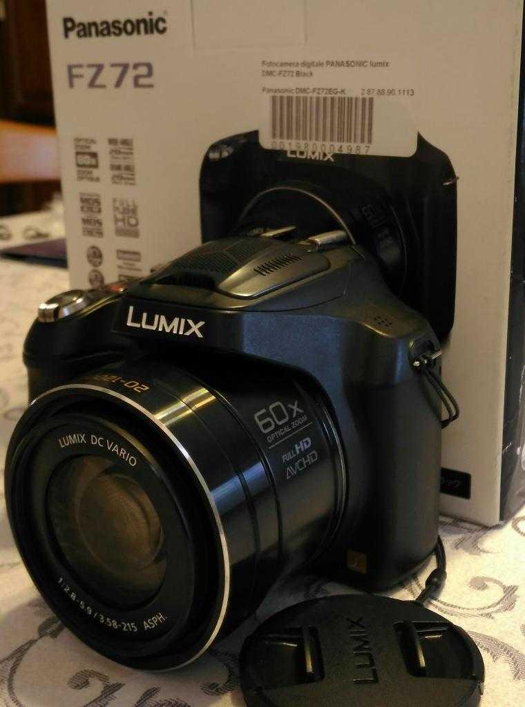Fotocamera Panasonic FZ72 zoom ottico 60x