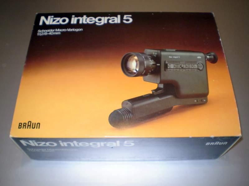 Cinepresa sonora Super 8 BRAUN NIZO INTEGRAL 5 MADE IN GERMANY NEW OLD STOCK