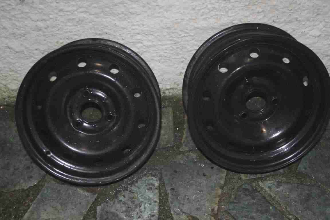 2x cerchio Citroen Ax Peugeot 105 106 Ruota Cerchi Acciaio 5x13 ET 3 fori
