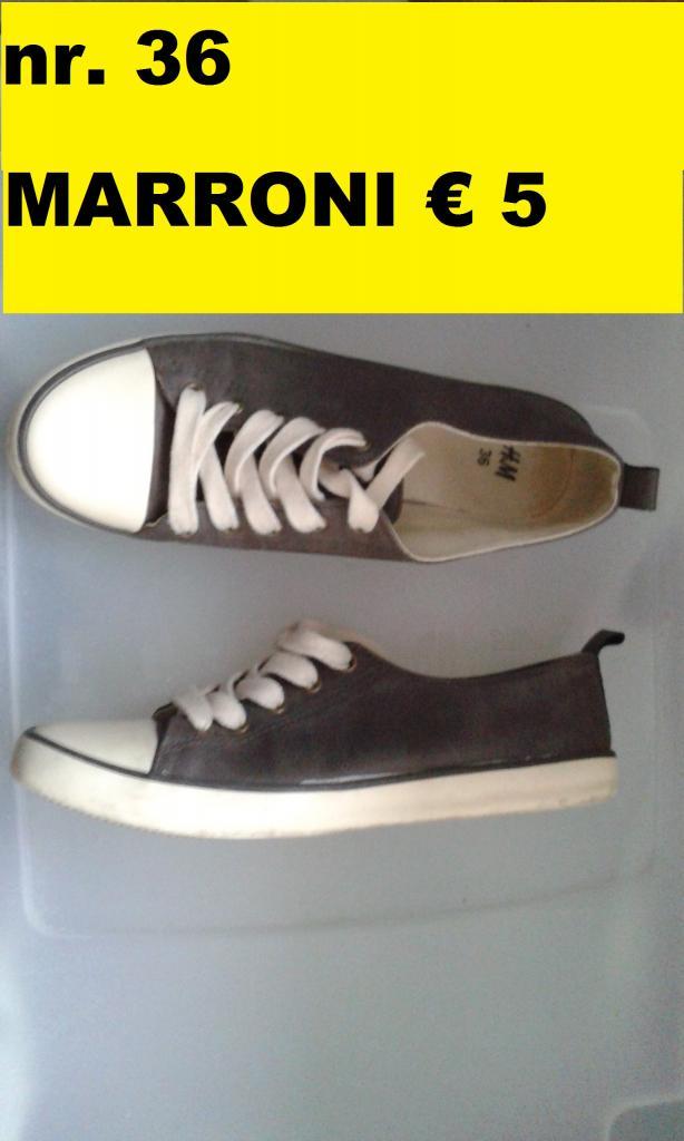 nr. 36 marroni, scarpe H&ampM