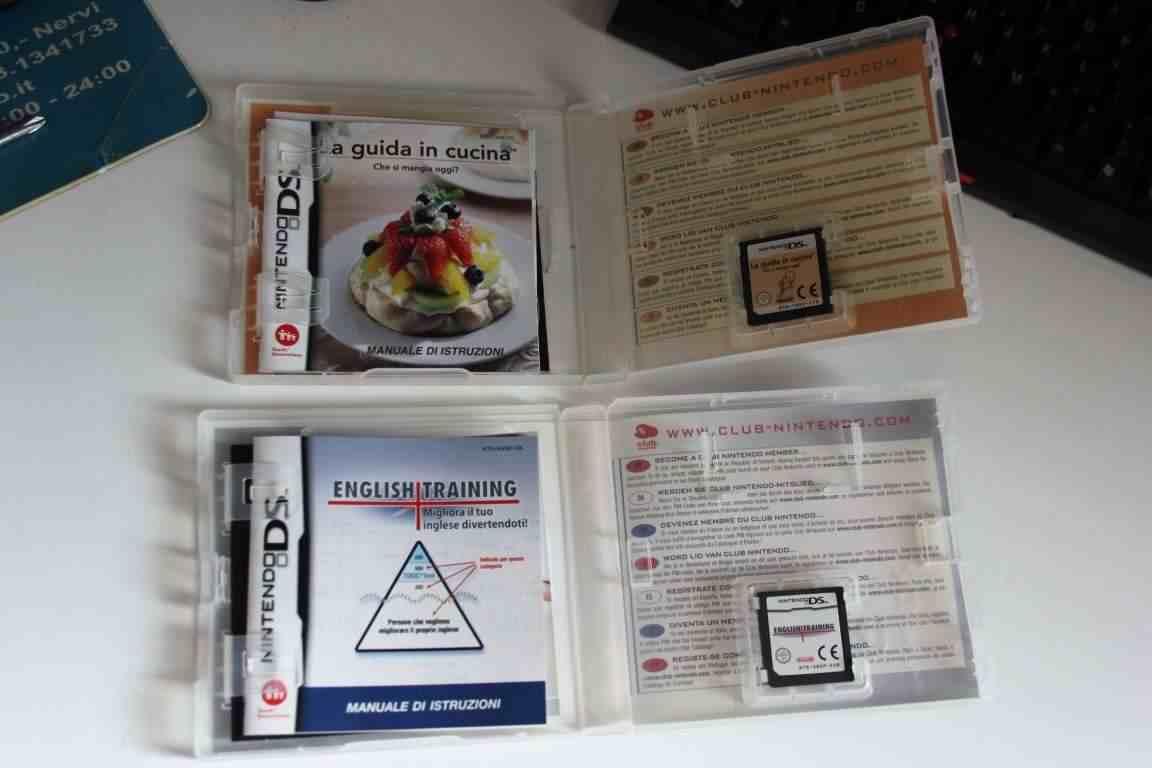 Lotto 2 giochi NINTENDO DS English Training – Guida in cucina