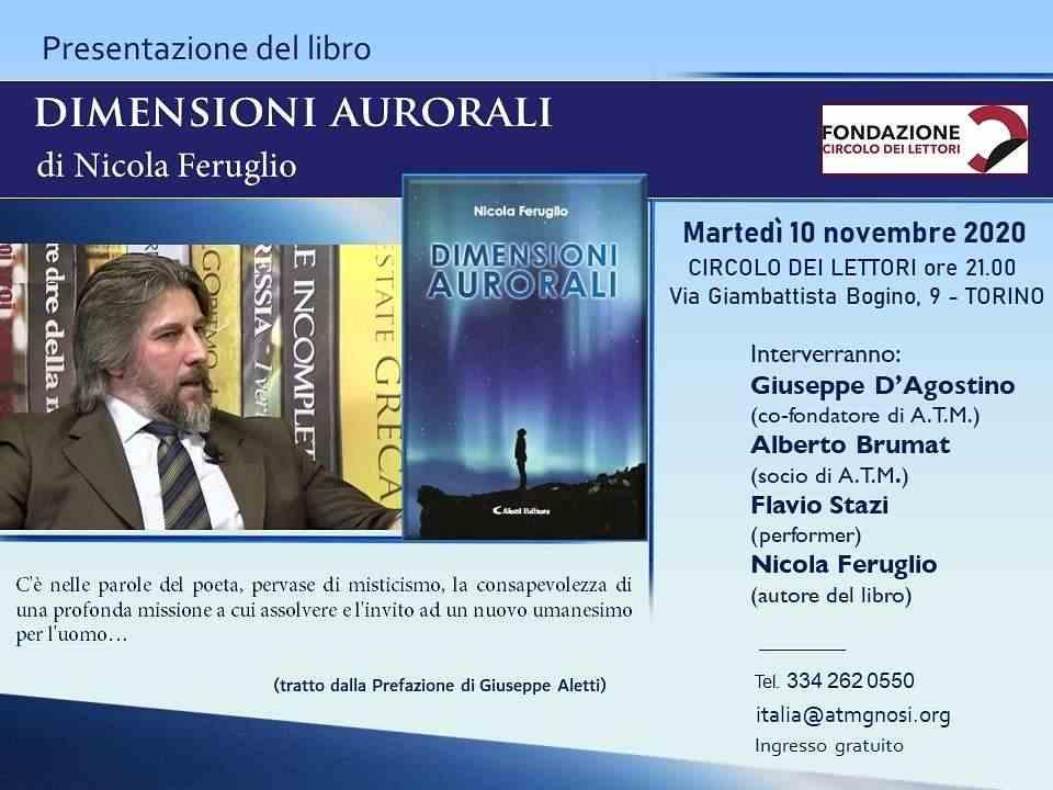 """Libro &quotDIMENSIONI AURORALI"""" (Nicola Feruglio a TORINO)"""