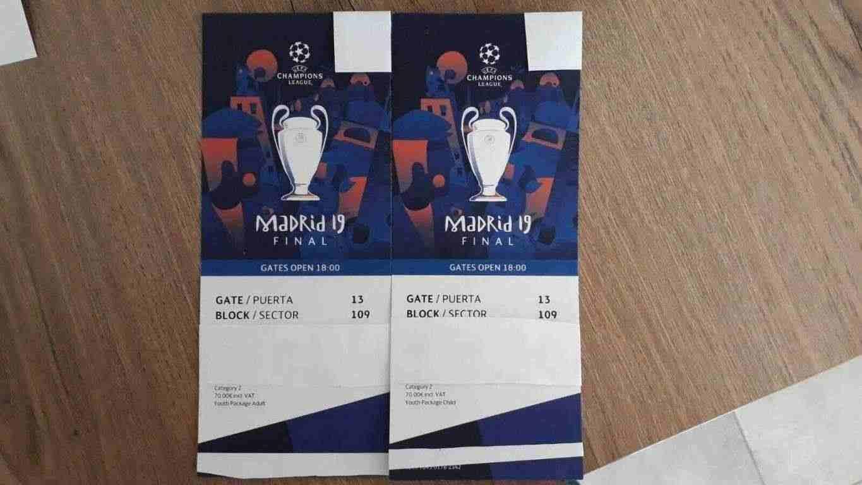 Biglietti finale UEFA Champions League 2019 Madrid categoria 2