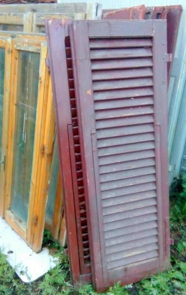 Disponibile lotto di persiane e finestre