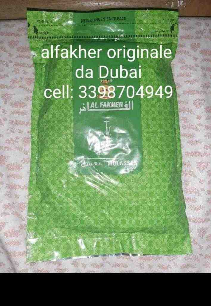 Al fakher tobacco originale da Dubai shisha narghilè