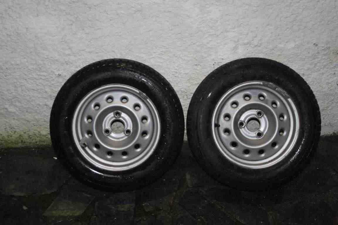 """2x cerchio Citroen Ax Peugeot 105/106 5x13"""" ET 14 - 3 fori - con gomme invernali"""