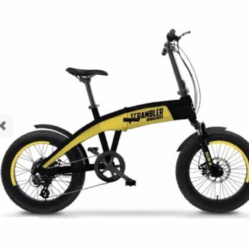 Ducati Fat E-Bike Bicicletta elettrica Scrambler Pieghevole