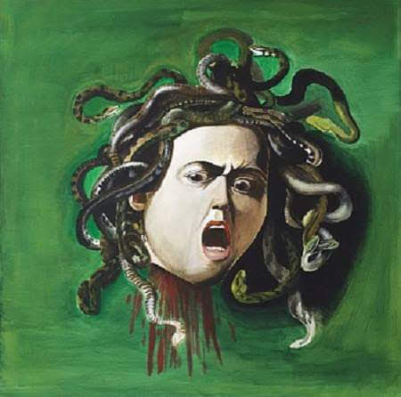 Medusa- quadro a olio su tela- De Carolis