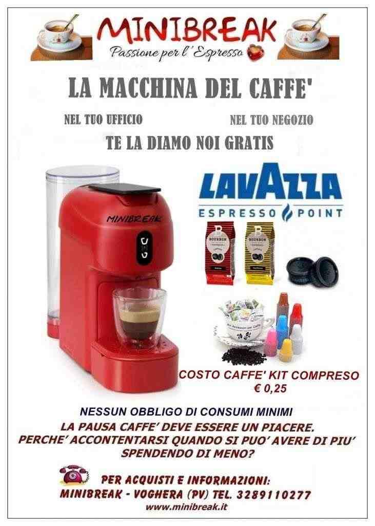 Macchina caffè in comodato d'uso gratuito
