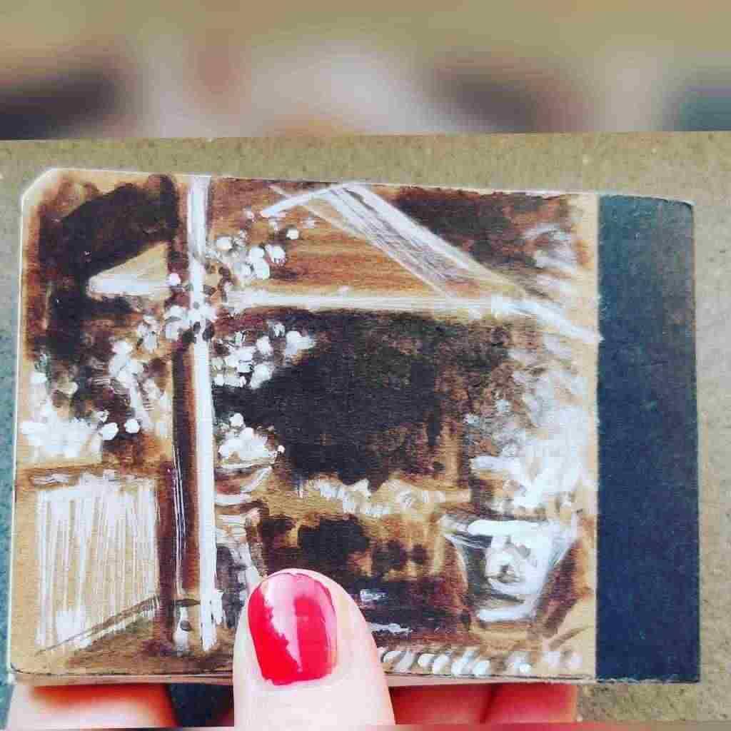 album 50 disegni e dipinti Toscana china acquerello matita festa papà