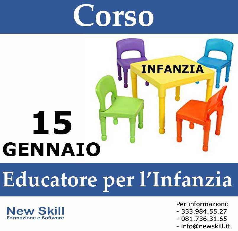 Corso di Educatore per l'Infanzia alla New Skill