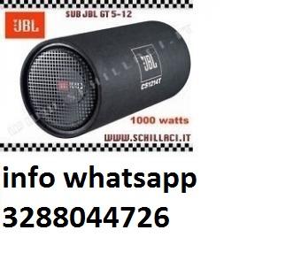 Jbl cs1214t 1000w subwoofer chiuso tubo reflex auto sub woofer in Italia