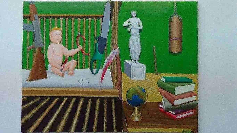 CONCLUSIONE-quadro a olio su tela- De Carolis