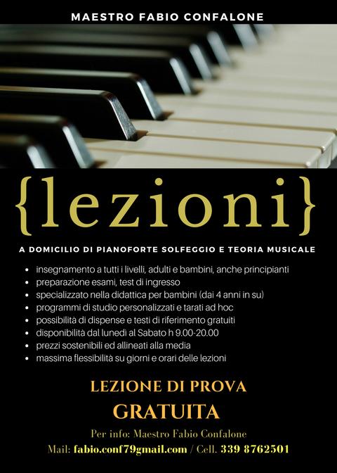 Lezioni di pianoforte e solfeggio Napoli e provincia