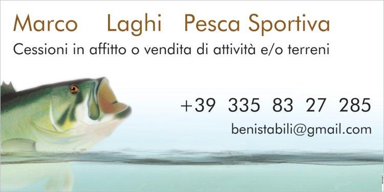 Lago pesca sportiva cerca gestore 2.200 € mese