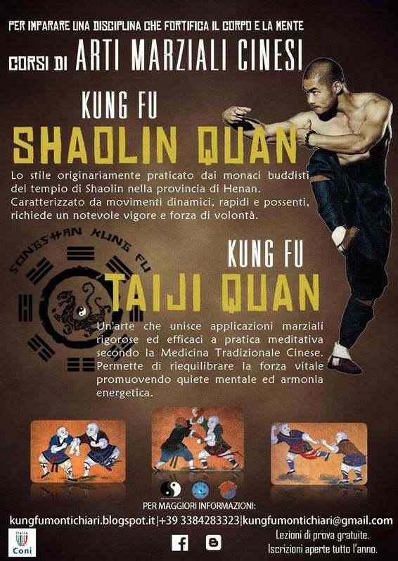 Corsi KUNG FU Shaolin e Taiji a Montichiari