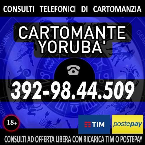 Consulta il Cartomante YORUBA' con un'offerta libera prepagata (ricarica TIM)