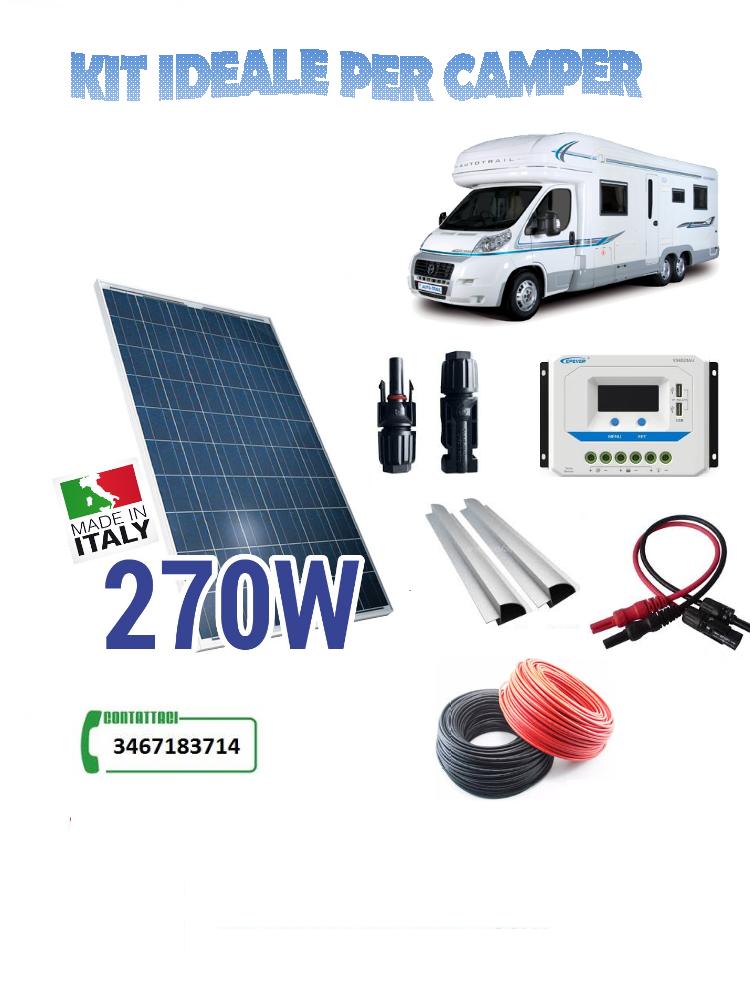 Pannello Fotovoltaico 270W policristallino kit completo