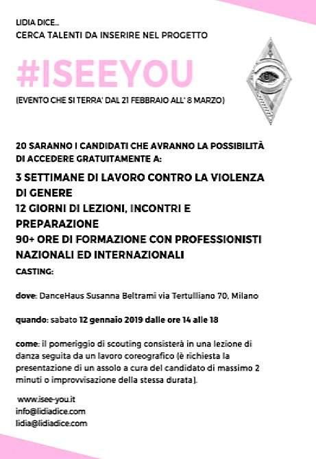 L'associazione Lidia Dice... cerca talenti da inserire nel progetto #ISEEYOU