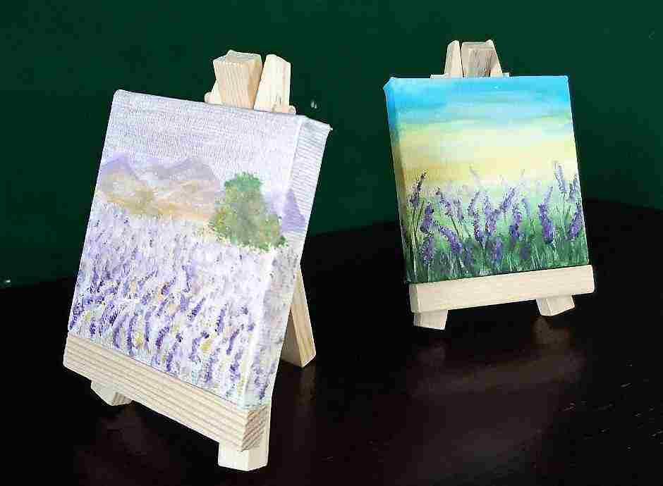 Quadro 7x7 colori acrilici dipinto a mano personalizzabile
