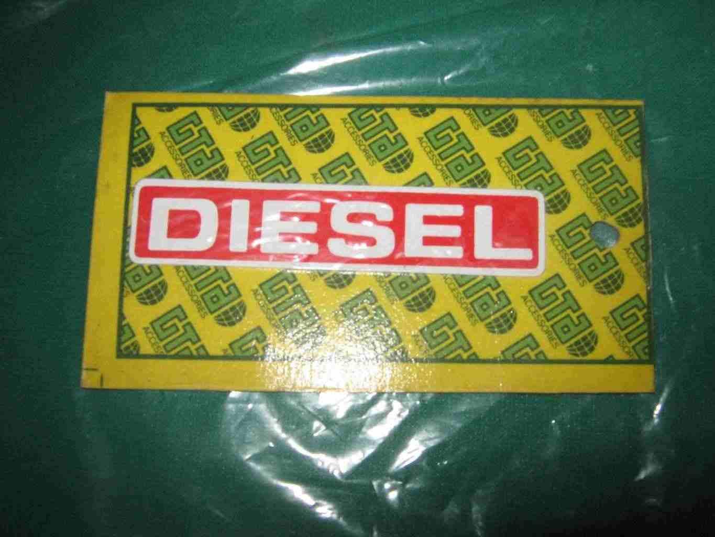 Adesivo diesel rettangolare
