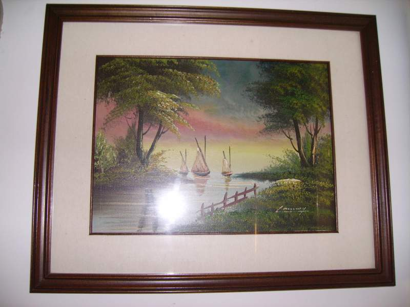 Quadro Pittura olio cornice legno