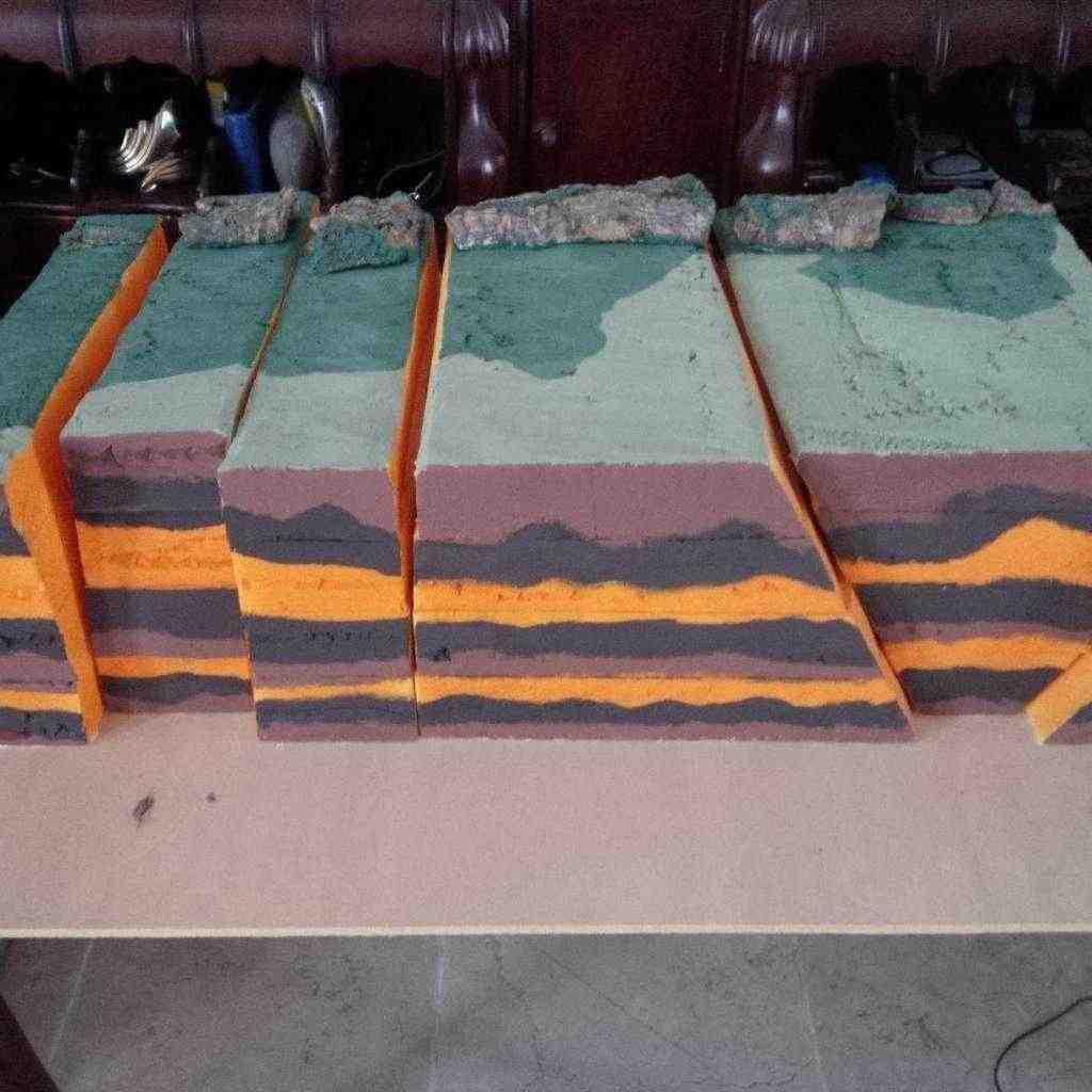Diorama Piani di faglie terrestri