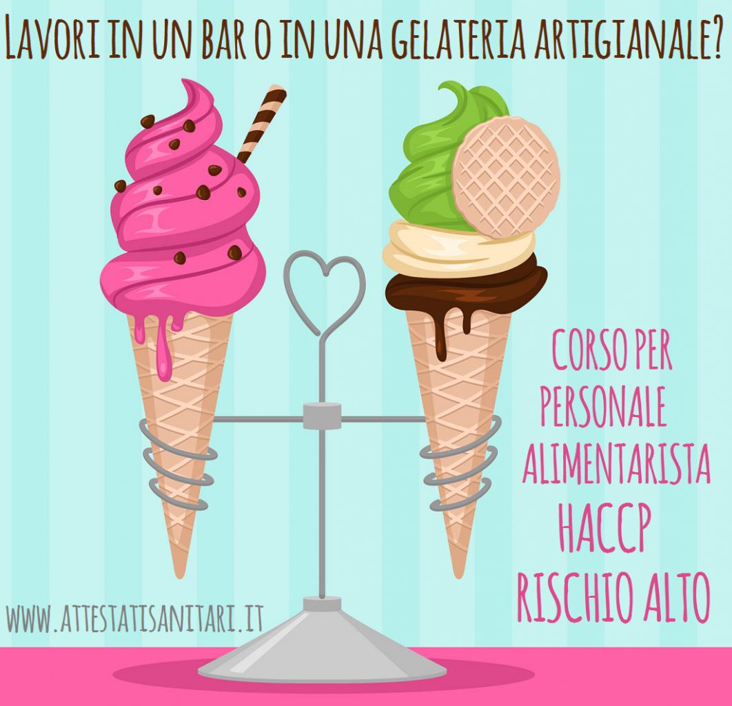 Corso e Attestato haccp per addetti gelaterie bar yogurterie