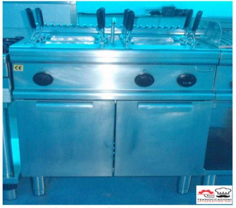 Cuoci pasta a gas 2 vasche usato garantito