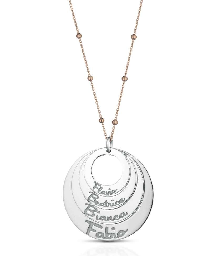 Collana in argento 925 personalizzabile con ciondolo