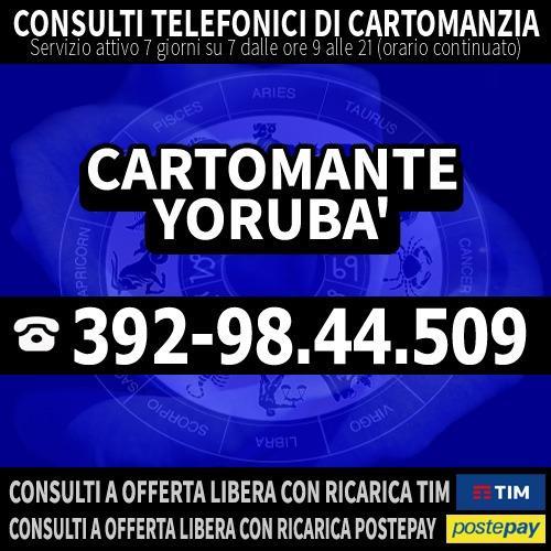 Cartomante a Basso Costo - Consulto Telefonico - Cartomante YORUBA'