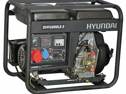 Generatore corrente trifase DHY6000LE3 5.0KW 10HP 418cc Hyundai 65212